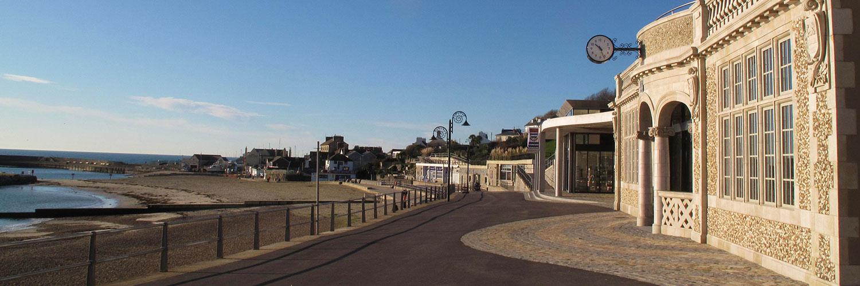 Marine parade shelters | Lyme Regis Town Council