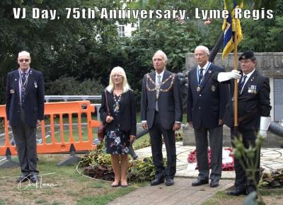VJ Day 75th anniversary marked in Lyme Regis